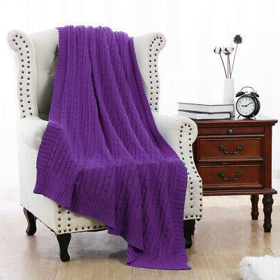 100% Cotton Blanket Warm Home