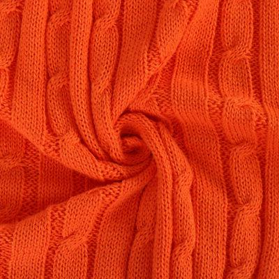 100% Cotton Knit Blanket Cable Knitted Blankets