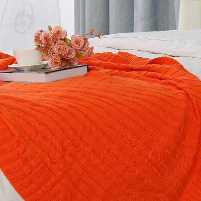 100% Blanket Soft Knitted Decorative Blankets