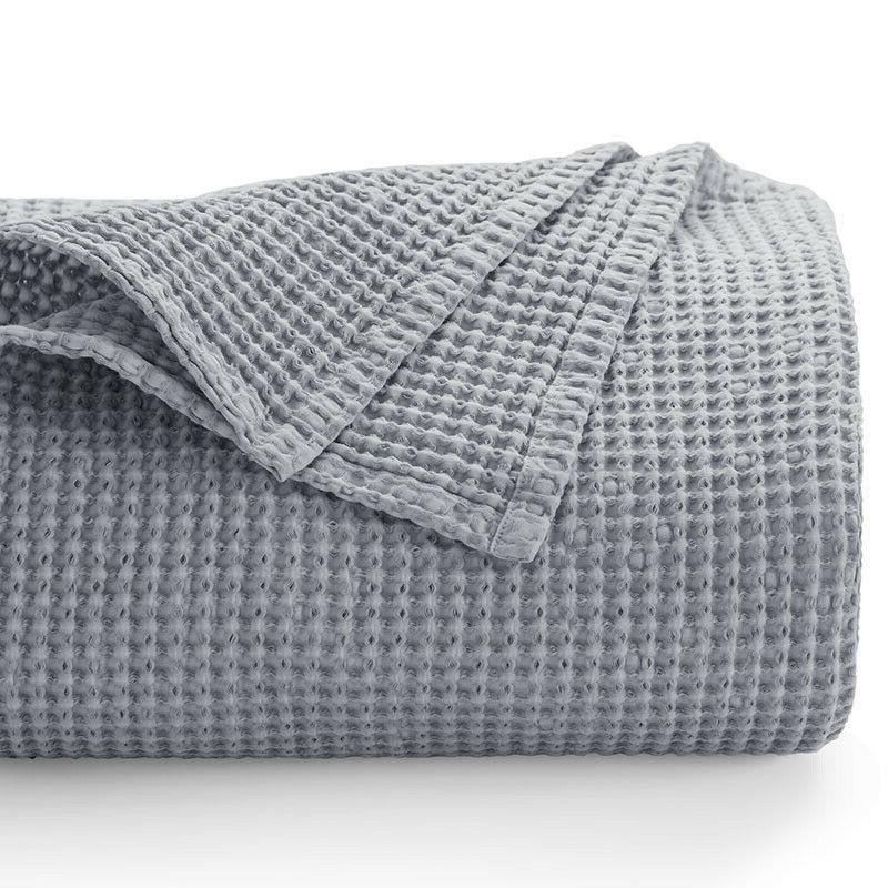 Bedsure 100% Blanket Throw Waffle Blankets