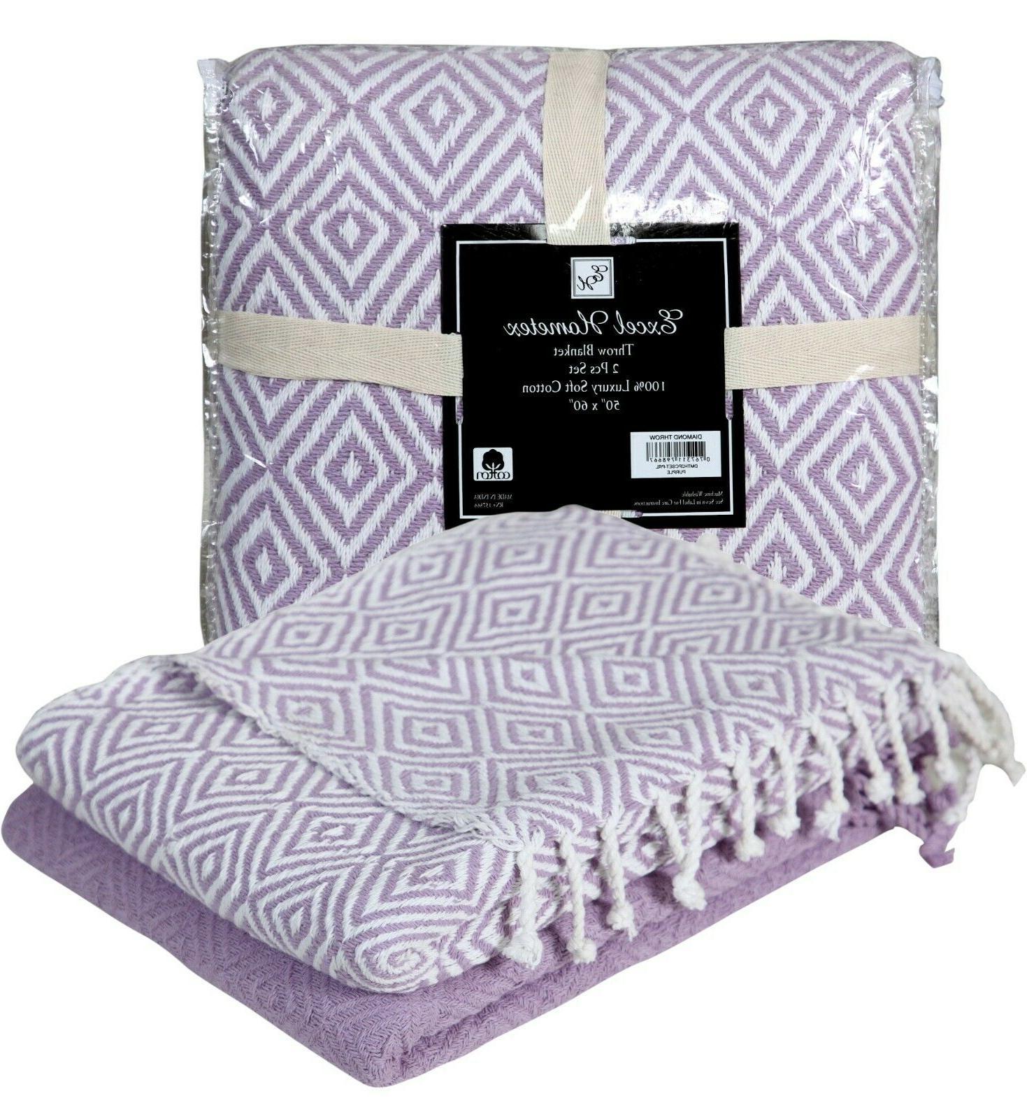 100% Blanket Diamond Couch Throw Indoor/Outdoor