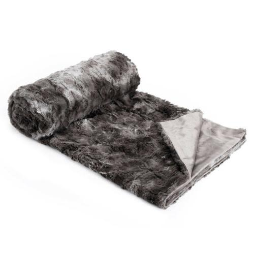 Faux Flannel/Sherpa Throw