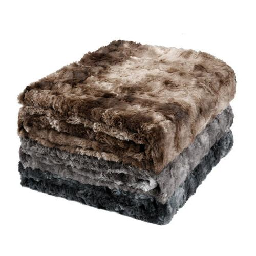 60 x 80 soft faux fur reversible