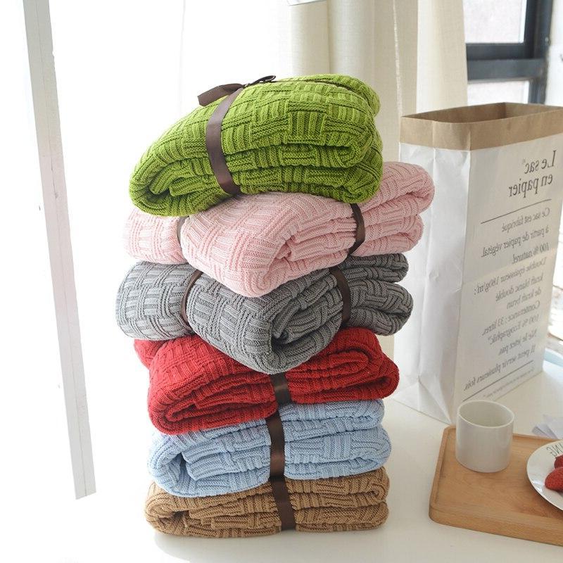 110x180cm/180x200cm <font><b>Blanket</b></font> Bedspread Cover Room Sofa