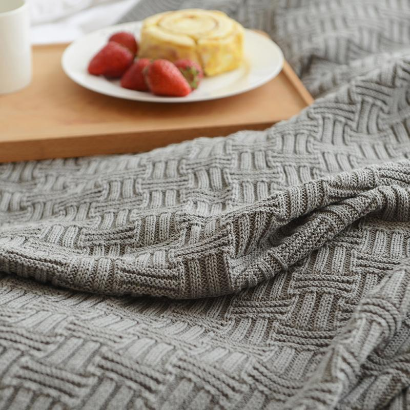 110x180cm/180x200cm <font><b>Knitted</b></font> Bedspread for Room on Chair