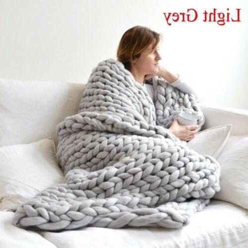 120*150cm Chunky Throw Wool Yarn Home New