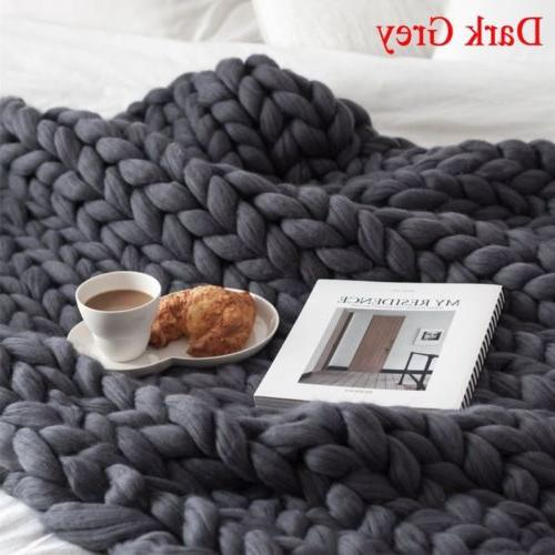 120*150cm Throw Thick Line Yarn Handmade New