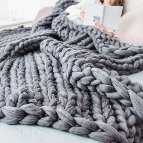 120*150cm Blanket Throw Wool Thick Line New