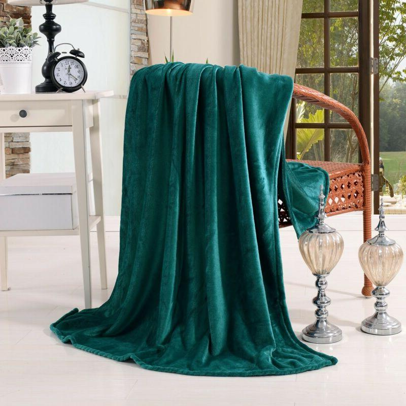 2 x luxury velvet plush throw blankets