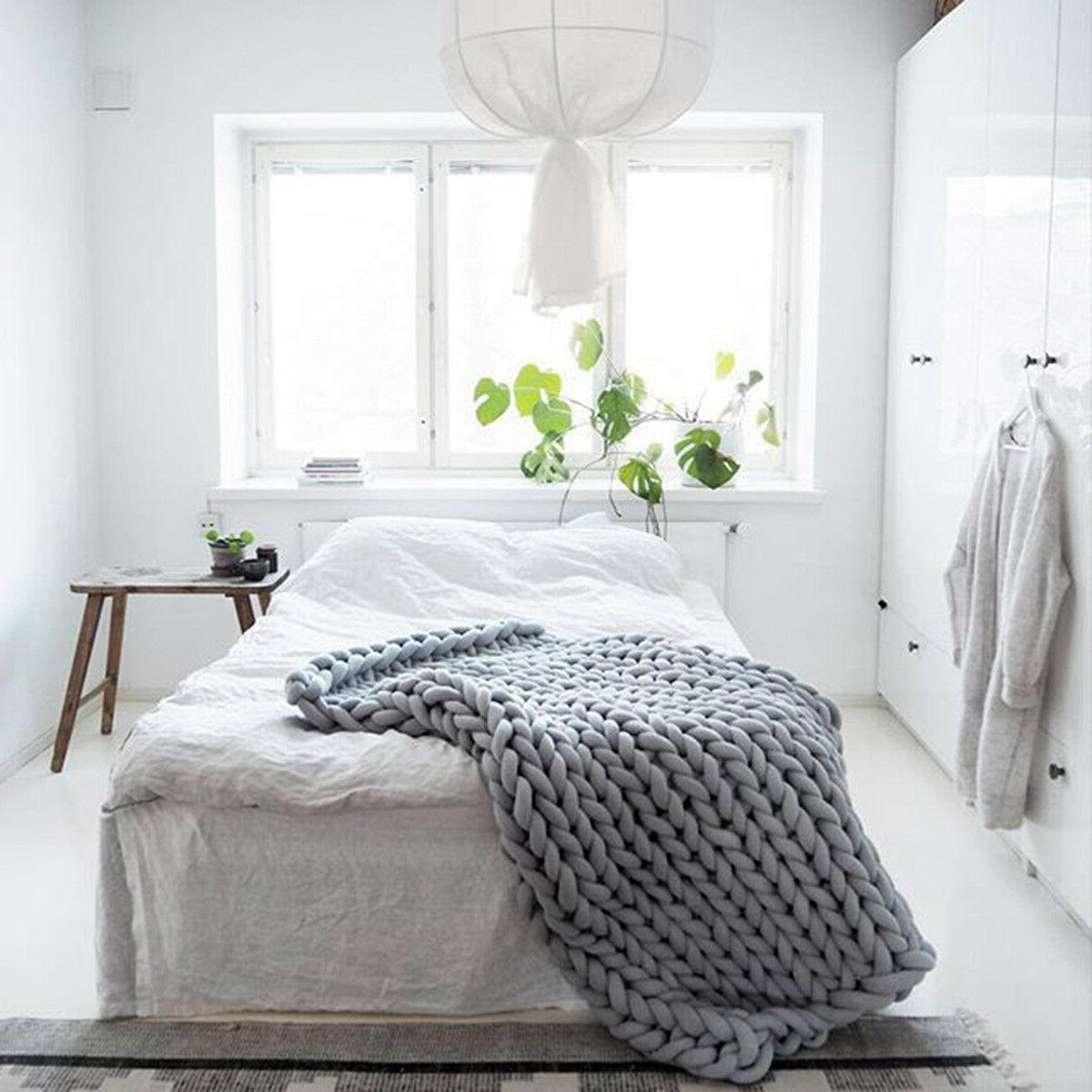 20x20in Handmade Chunky Blanket Throw Carpet Bathroom Rug Cotton❤