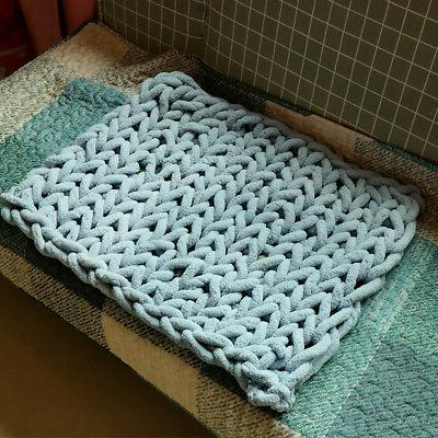 20x20in Cotton Washable Throw