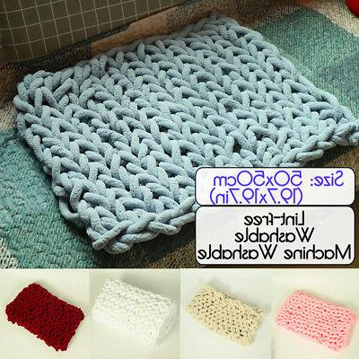 20x20in handmade knitted blanket cotton soft washable