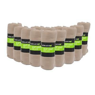 24 Pack Wholesale Soft Fleece Blanket or Throw Blanket - 50