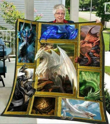 3D Dragon Photo Frames Sofa Fleece Blanket, Quilt Blanket Ma