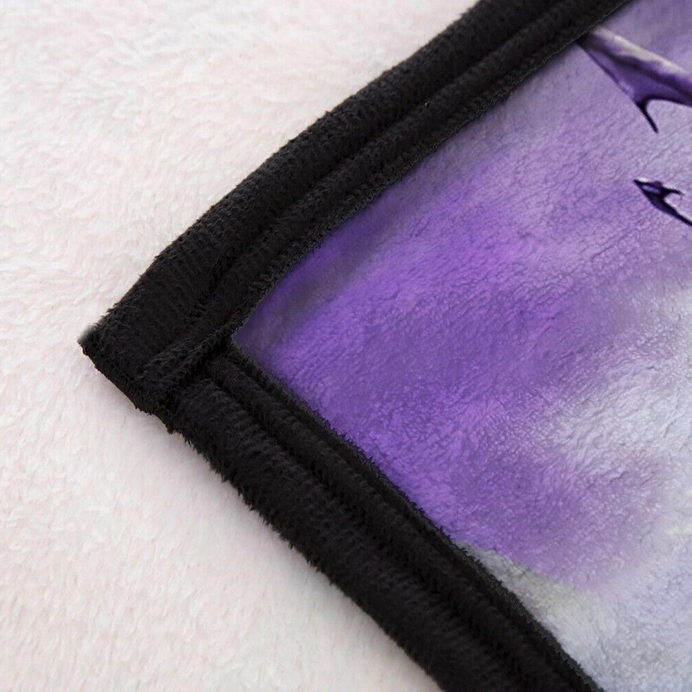3D Purple Dragon Animal Soft Throw Blanket