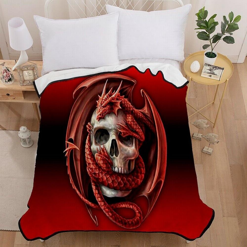 3D Dragon Animal Super Plush Throw Blanket Bed