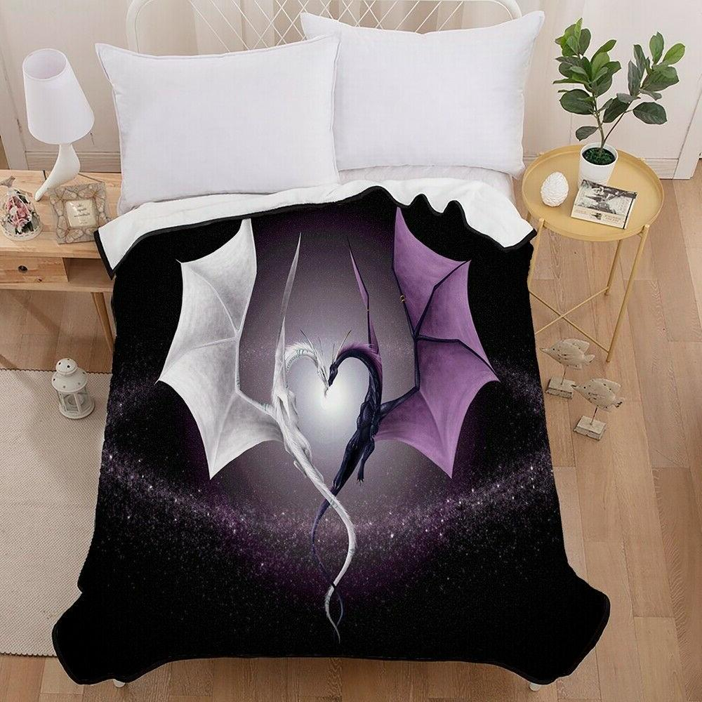 3D Skull Alien Dragon Super Soft Blanket Sofa Comforter
