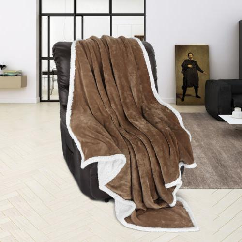 5-Color Sherpa Throw Cozy Warm Plush
