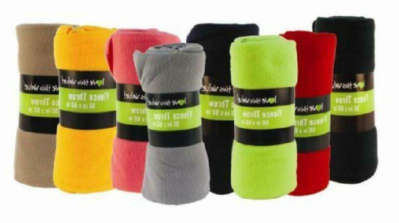 50 X 60 Inch Ultra Soft Fleece Throw Blanket Wholesale Case