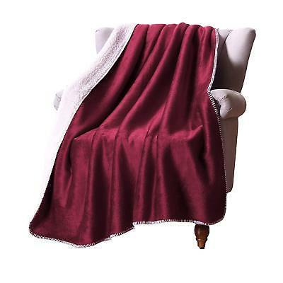 "Exclusivo Mezcla 50"" 70"" Large Reversible Sherpa Throw Blanket -"