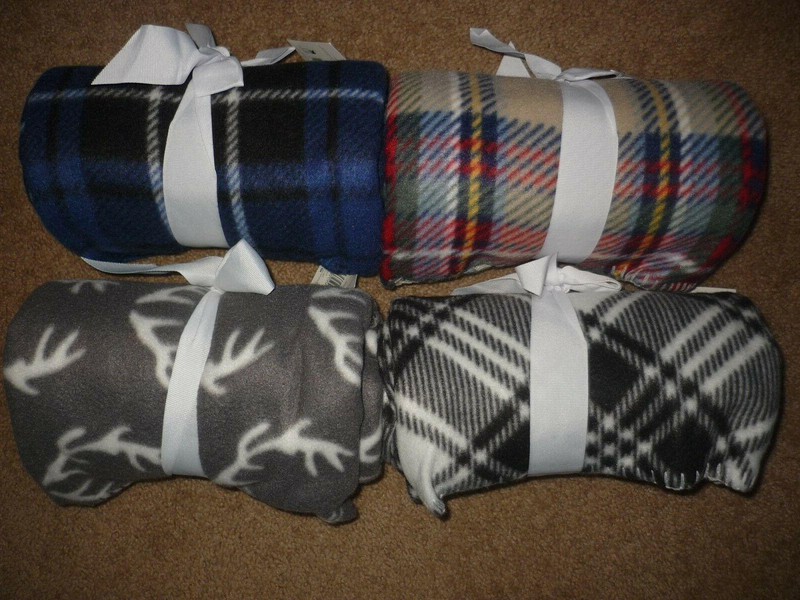 "50""x60"" Fleece Soft Color, Plaid,"