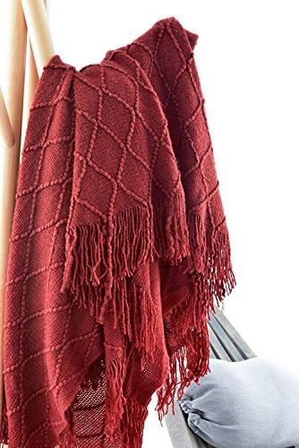 "Battilo Decorative Throw by 60"", Red/Burgundy"