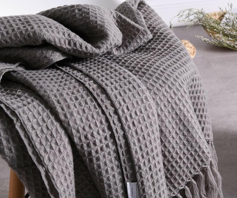 51x67 soft knitted throw blanket bed sofa