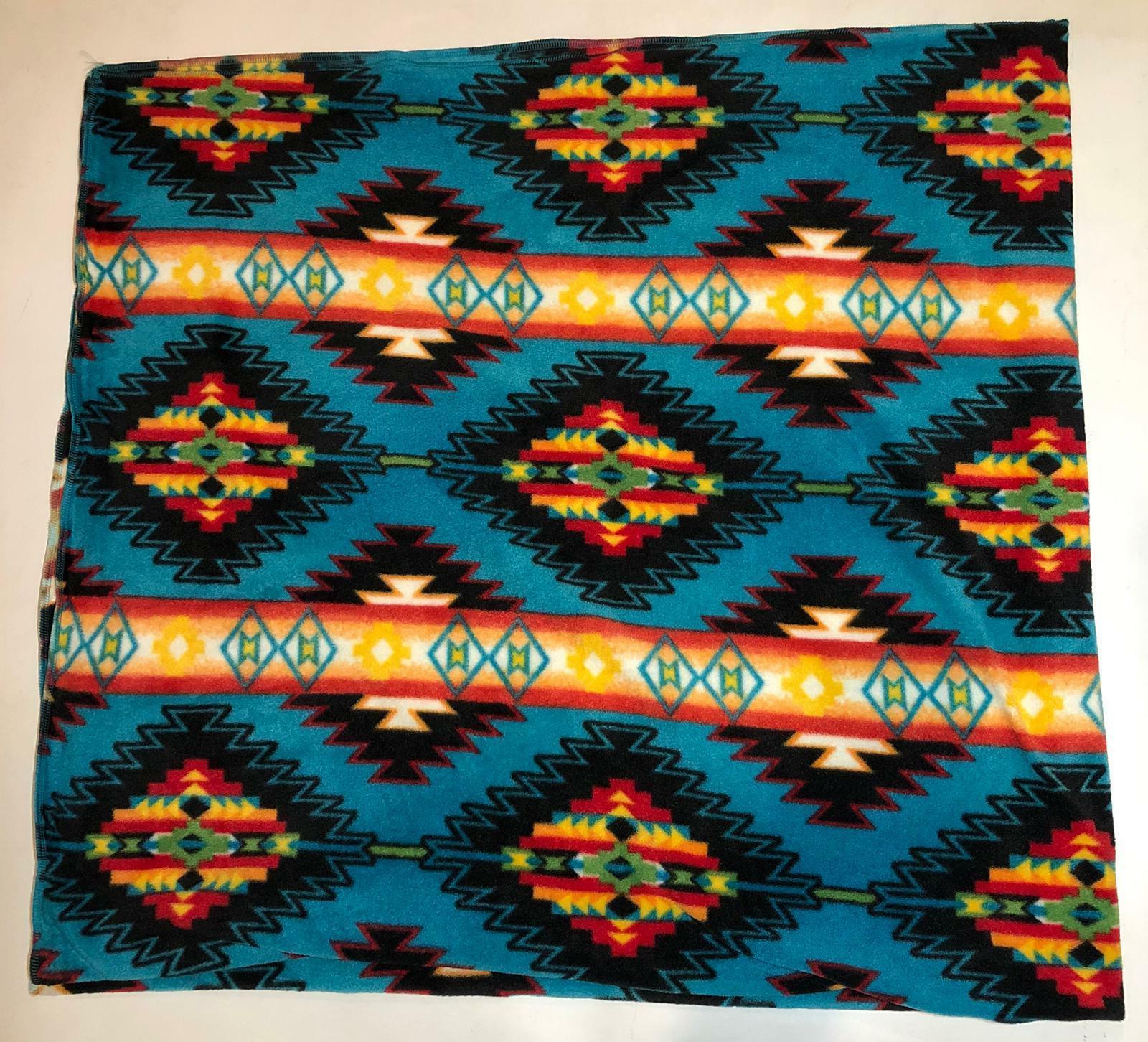 """ZooFleece 55X60"""" Aztec Pattern Native American Blanket Linen"""