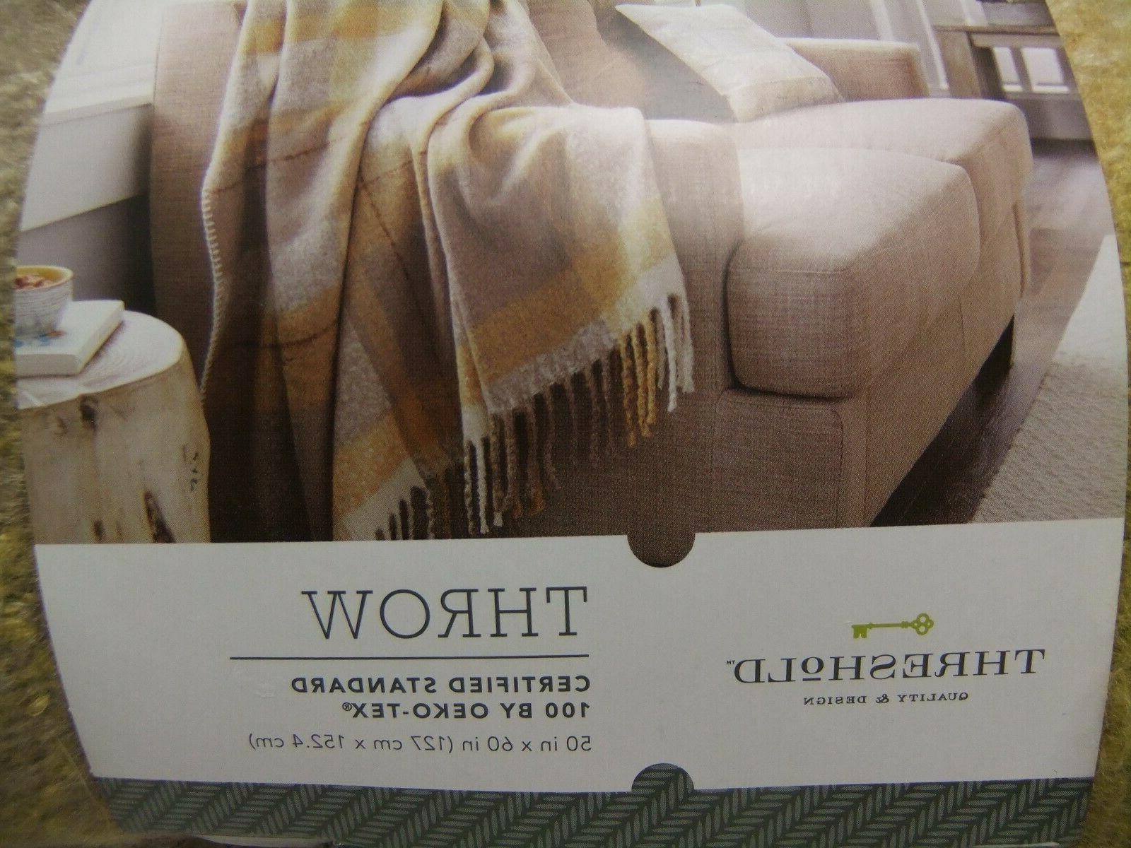 Threshold x Faux Plaid Throw Blanket