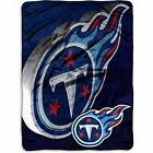 "60""x80"" Oversize NFL Titans Theme Throw Blanket Blue Red Sil"