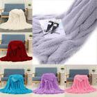 9 Color Soft Fur Plush Blanket Bed Sofa Throw Rug Snuggle Ba