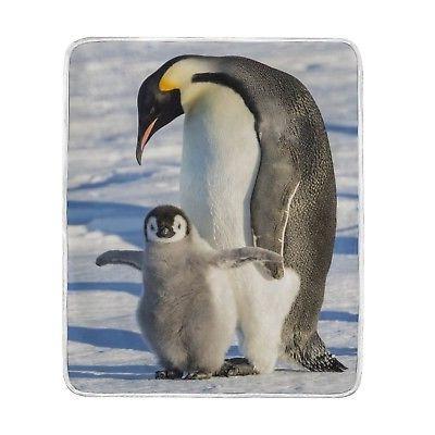 ALAZA Cute King Penguin Plush Throws Siesta Camping Travel F
