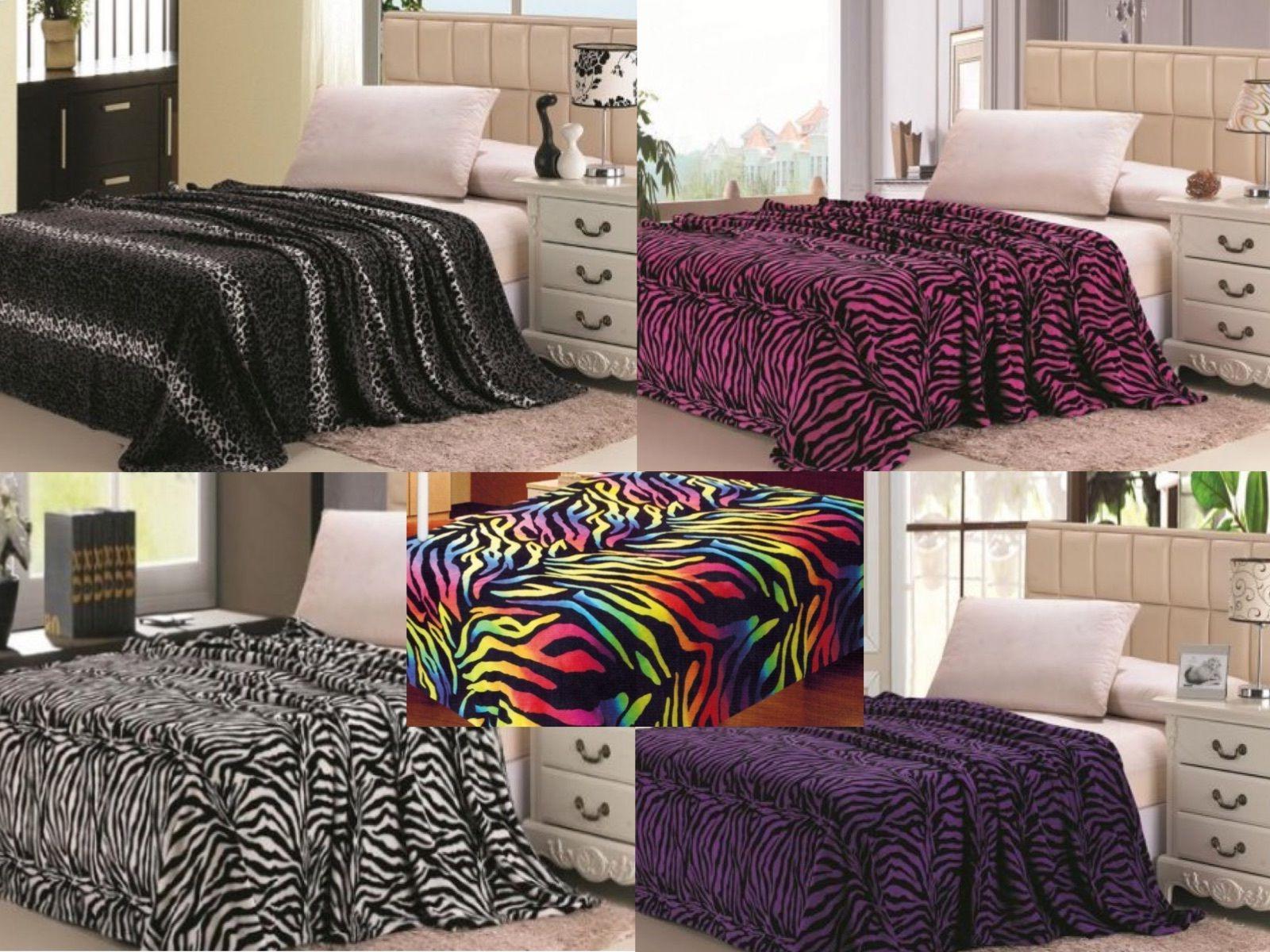 Animal Print Super Soft Luxurious Fleece Throw Blanket Beddi