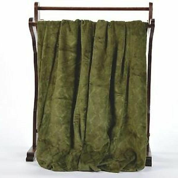 "BERKSHIRE BLANKET DECADENT - OVERSIZED 70"" - GREEN"