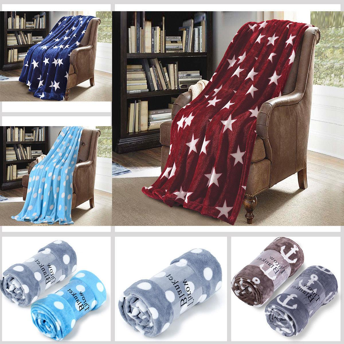 Throw Printed Soft Fleece Couch 60