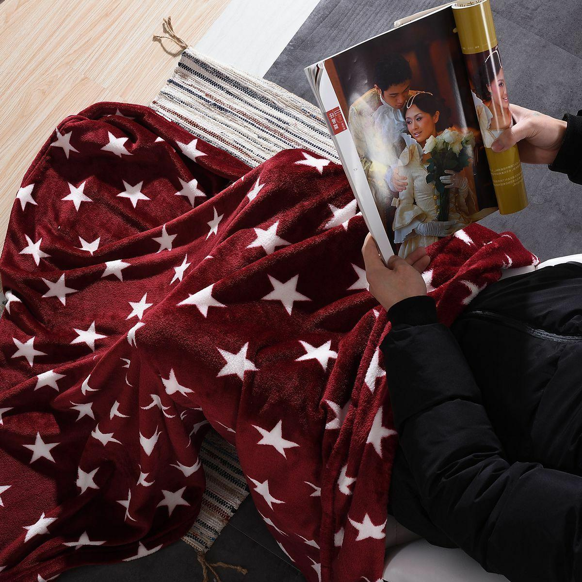 Throw Blanket Printed Fleece Lightweight Couch Bed x 60 inches