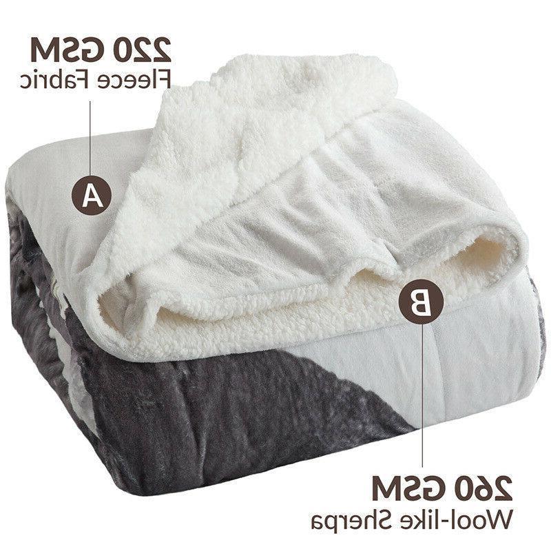 Bedsure Elephant Animal Bedding Reversible Blanket