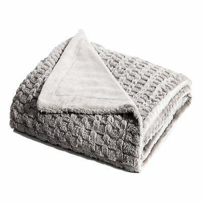 "Bedsure Faux Fur Throw Blanket Fleece Bed Throw 50""x60"" Soli"