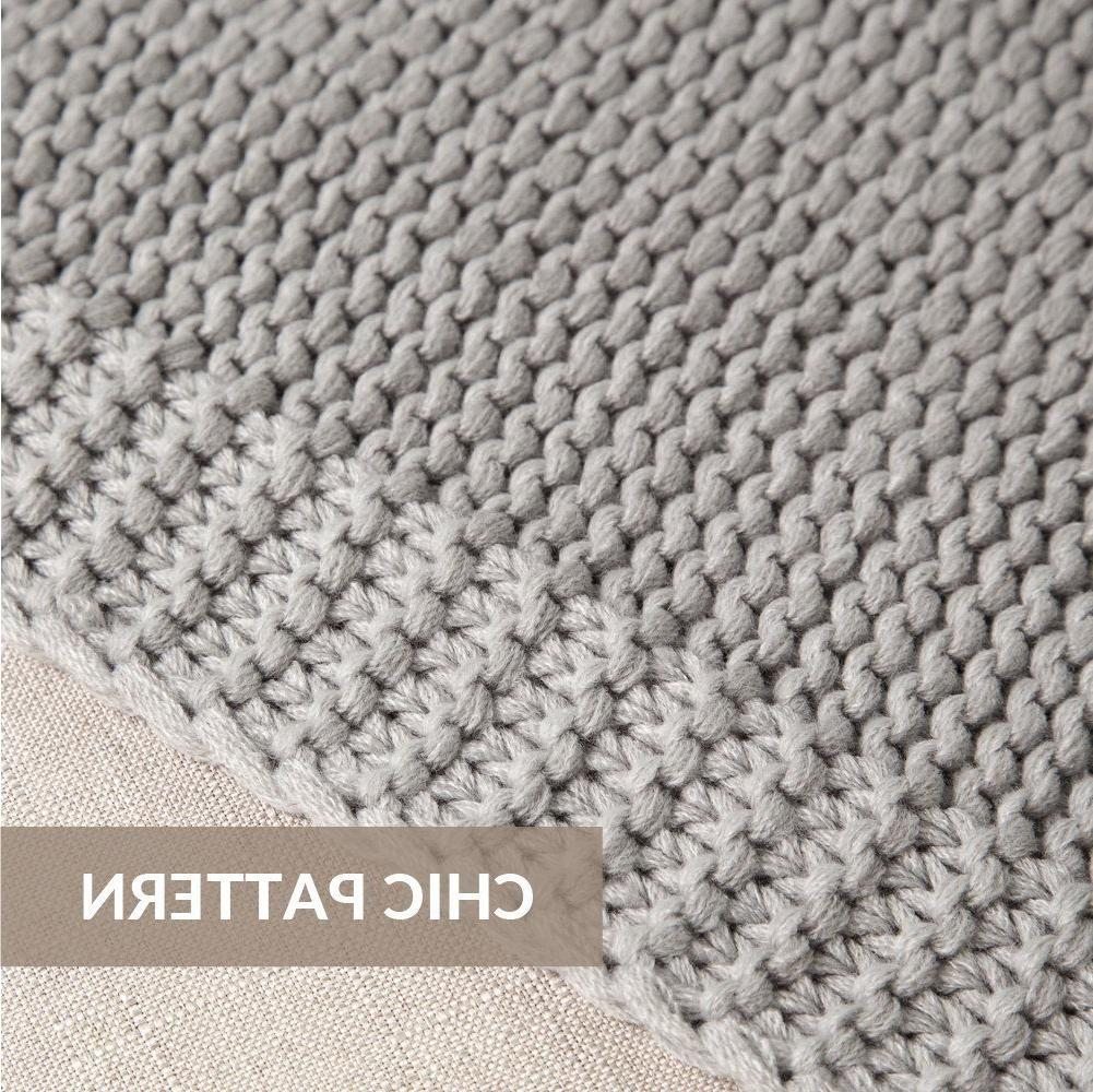 Bedsure Knit Blanket for Sofa Couch Soft Cozy Throw