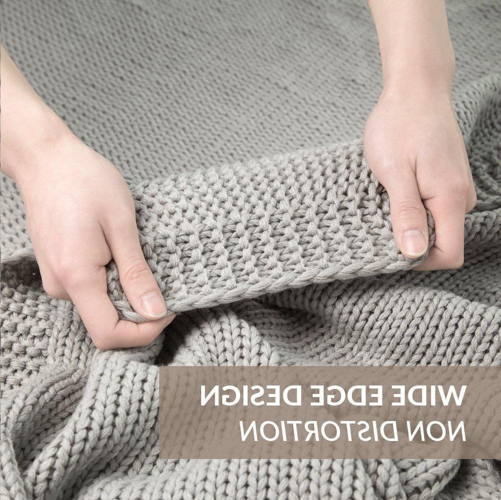 Bedsure Knit Blanket Couch Soft Cozy Knit Throw