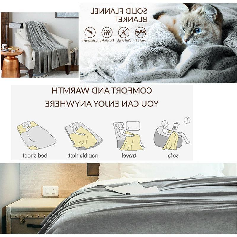 Bedsure Luxury Flannel Fleece Blanket Bed Microfiber