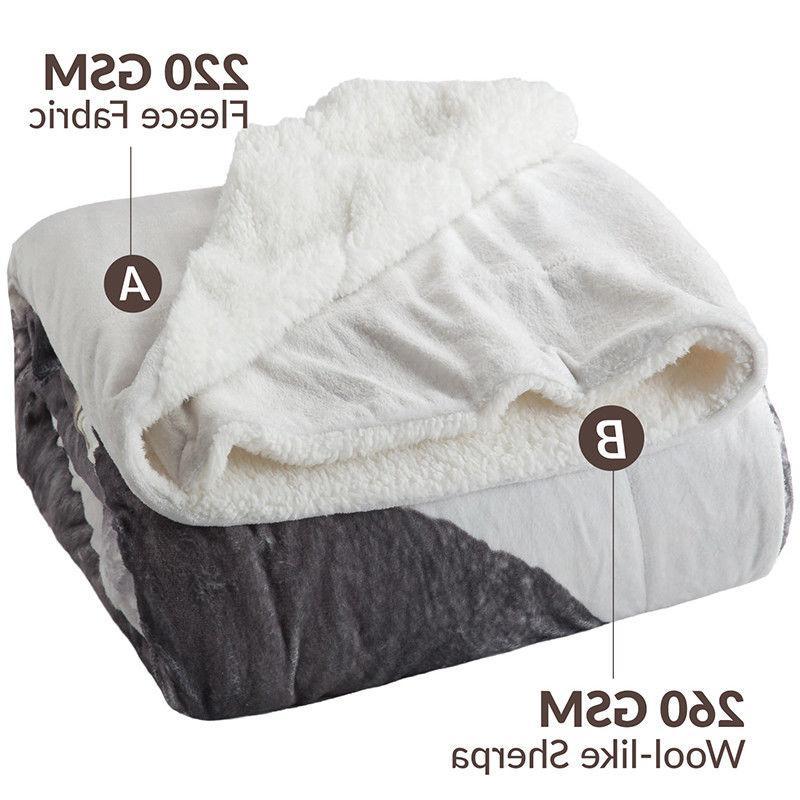 Bedsure Sherpa Animal Blanket Throw