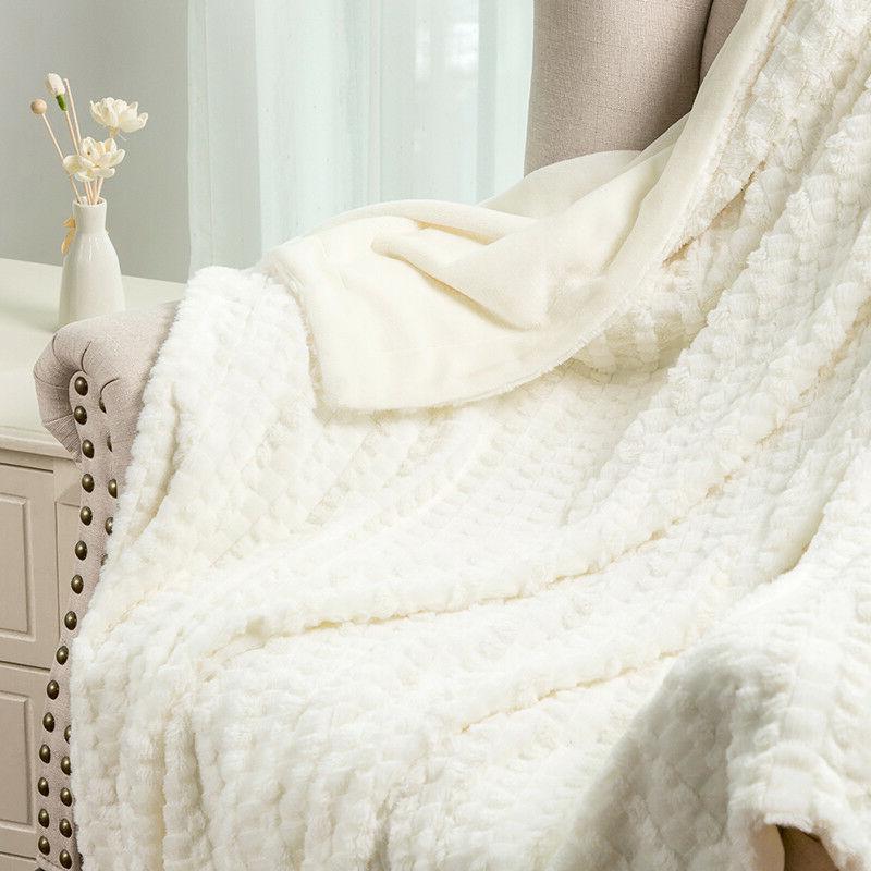 Bedsure Luxury Fur Throw Blanket Super Soft Blanket Gray