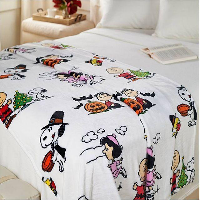 Berkshire Blanket Peanuts Snoopy Holiday Fleece Throw  FREE