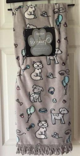 "Berkshire Opulence Plush Pet Throw Blanket 50""x 60"" Dogs AND"