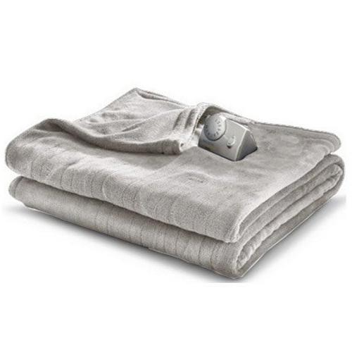 Biddeford MicroPlush Analog Twin Electric Blanket, Gray