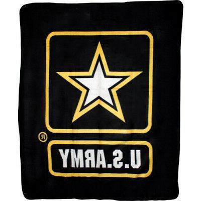 Black U.S. Army Star 50x60  Premium Polar Fleece Blanket Thr