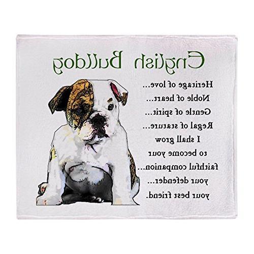 "CafePress - English Bulldog - Soft Fleece Throw Blanket, 50"""