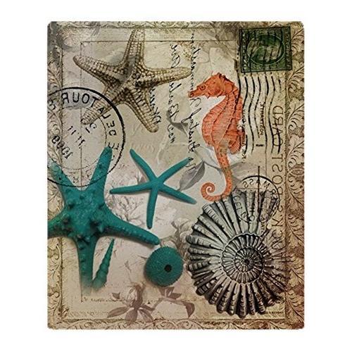 CafePress - Nautical Seashells Beach Decor - Soft Fleece Thr