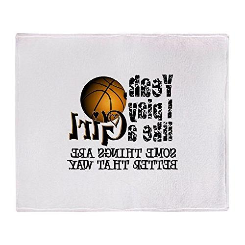 CafePress - Play Like A Girl - Basketball - Soft Fleece Thro